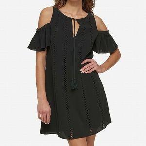 Kensie Cold-Shoulder Keyhole Women's Shift Dress B
